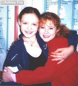 Olympic ice dancer Alexandra Zaretsky and Ashley Foy in back 2003; my first season of ice dancing! Sasha supported me very much
