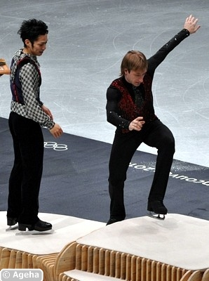 Medal ceremony men: Joke or Statement by Plushenko?